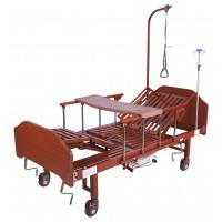 Кровать механическая YG-5 (ММ-036Н) с боковым переворачиванием, туалетным устройством и функцией «кардиокресло»