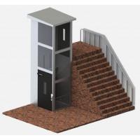 Подъемная платформа вертикального перемещения в шахте. Модель КР 901